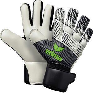 Erima Skinator Hybrid Match Keepershandschoenen - Zwart / Wit / Green Gecko