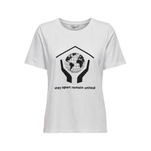 ONLY Remain United T-shirt Dames White XS