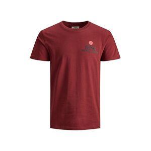 JACK & JONES Rdd Borstprint T-shirt Heren Rood - S