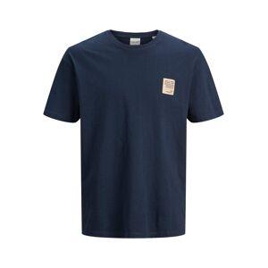 JACK & JONES Borstlogo T-shirt Heren Blauw - S