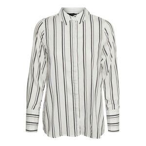 VERO MODA Gestreept Overhemd Dames White - M