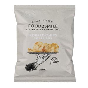 Food2Smile Popped Chips Salt & Pepper, Food2Smile