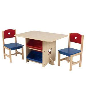 Kidkraft Tafel en 2 stoelen met sterren en bakken in primaire kleuren - 26912