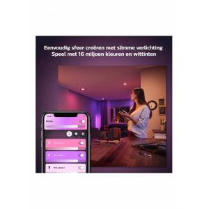 Philips Hue White and color ambiance GU10 spot lichtbron - Wit