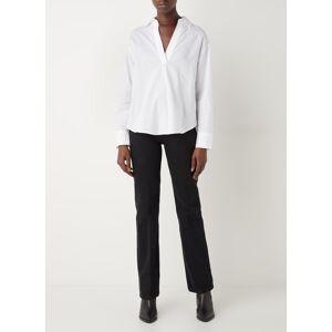 MANGO Gala high waist straight leg jeans met gekleurde wassing - Zwart