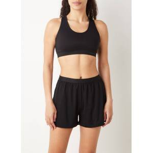 Organic Basics Tencel Lite high waist loose fit korte loungebroek - Zwart