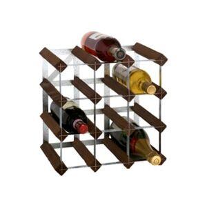 RTA Wijnrek van hout voor 12 flessen - Donkerbruin