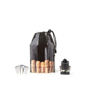 Vacu Vin Champagne Accessory champagneset 3-delig - Zwart