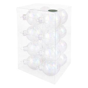 Decosy Glas Kerstballen Mix (6 cm) Box 16 Stuks Clear Pearl
