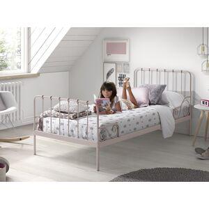 vipack Metalen Bed Alice 90x200 - roze