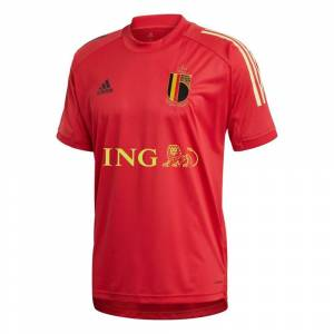 adidas Belgie Trainingsshirt 2020-2021 Kids Rood Zwart Wit - 140