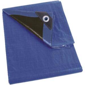 Perel afdekzeil extra sterk 6 x 10 meter polyester blauw/zwart