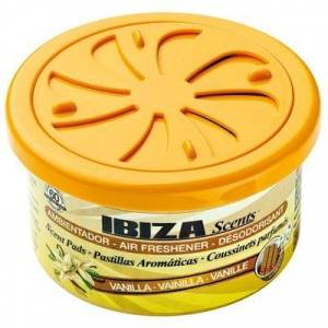Ibiza Scents luchtverfrisser blikje Vanille geel