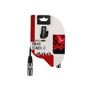 HQ-Power HQ Power DMX kabel 3 pin 50 cm nikkel/koper zilver/blauw