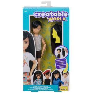 Creatable World pop starterspakket zwart haar 30 cm