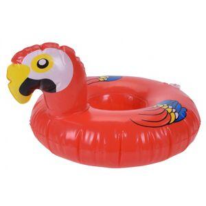 Free and Easy opblaasbare bekerhouder 18 cm pelikaan rood