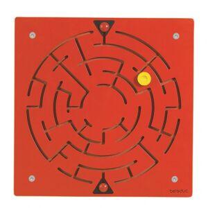 beleduc wandspel Doolhof junior 40 cm hout rood