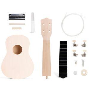 Kikkerland maak je eigen ukulele junior 31 cm hout naturel