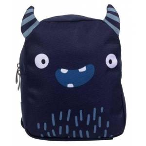 A Little Lovely Company rugzakje Monster baby 5,5 l polyester donkerblauw - Donkerblauw