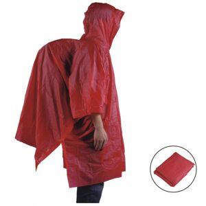 AceCamp regenponcho met capuchon unisex vinyl rood - Rood