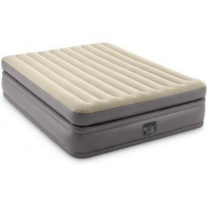 Intex luchtbed Comfort Elevated Dura Beam 203 x 152 cm PVC grijs - Grijs