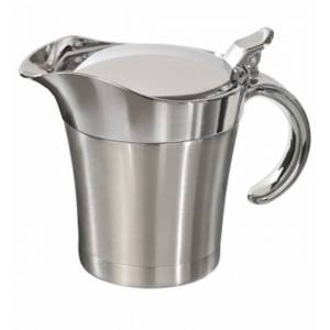 Mato sauskom Hot Dip RVS 0,4 liter zilver 13 cm - Zilver