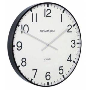 Thomas Kent wandklok Clocksmith 30 cm staal wit/zwart