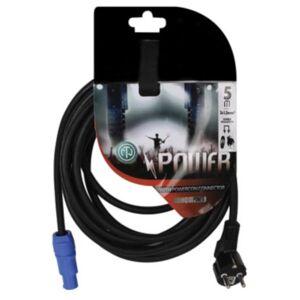 HQ-Power HQ Power powercon kabel 230V 5 meter rubber zwart