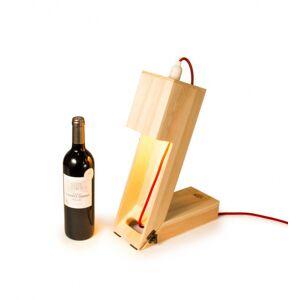 Rackpack wijnbox en tafellamp Winelight 40 x 11,1 cm hout blank
