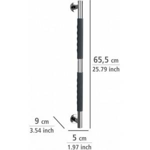 Wenko veiligheidsbeugel badkamer 9 x 65,5 cm RVS chroom