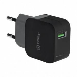 Celly thuislader turbo 1 USB poort 2.4A zwart