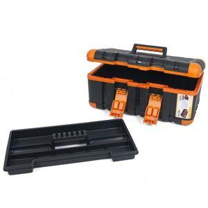 Gerimport gereedschapskoffer 50 x 28 x 23 cm zwart/oranje