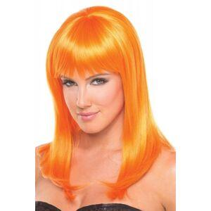 Be Wicked Wigs Hollywood Pruik - Oranje -