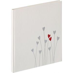 WALTHER DESIGN Gastenboek 23x25cm Wit Bleeding Heart Wit