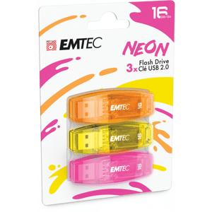 EMTEC USB 2.0 Geheugenstick 16GB Neon 3 Stuks