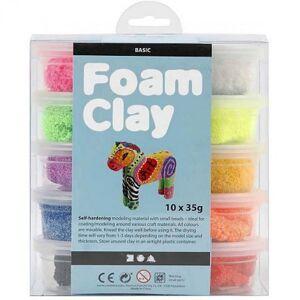 AVA selection Foam Clay Basic Assortiment 35g 10 Stuks Meerdere