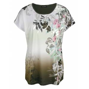 m. collection Shirt m. collection Olijf::Roze::Lindegroen
