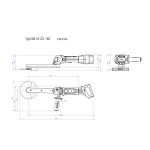 Metabo KNS 18 LTX 150 Accu-binnenhoekslijper 18 Volt Body