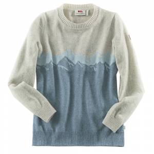 Fjällräven Dames Trui Greenland Re-Wool View Sweater W - grijs-blauw -
