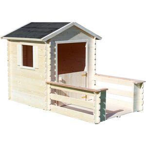 SOULET Houten hut met terras voor kinderen – Praline