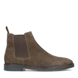 Manfield Taupe chelsea boots  - taupe