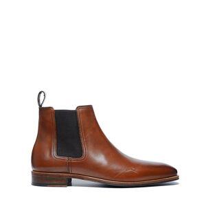 Manfield Cognac chelsea boots  - cognac