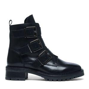 Manfield Zwarte biker boots  - zwart