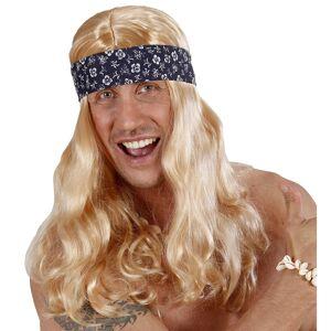 Mooie blonde Flower power pruik Rob