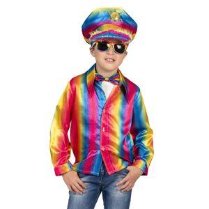 Ruige disco blouse Stijn regenboogkleuren