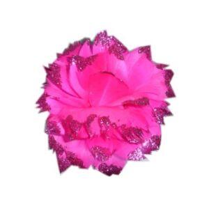 Mooie roze bloem bezet met glitters