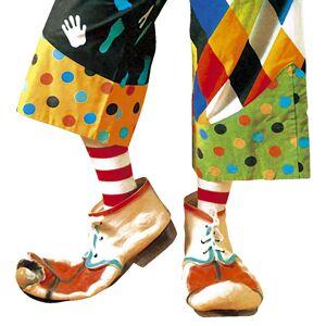 Carnavalsspullen: Paar latex maxi clown schoenen volwassen