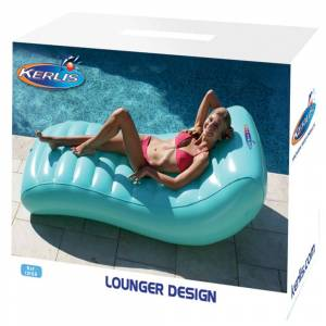 Kerlis Stijlvolle Lounger Luchtbed Blauw