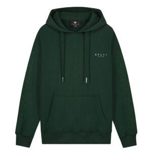 Link Hoodie Green-Green  - groen - Size: m