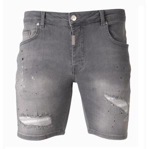 AB Lifestyle Short Splatter Jeans Grey - Maat 32 - Kleur: Grijs   Soccerfanshop